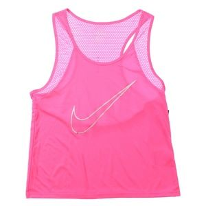 Nike Dry Run Fast Running Tank Top Pink Silver NWT